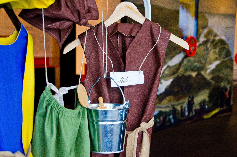 Upphänga gamla barnkläder